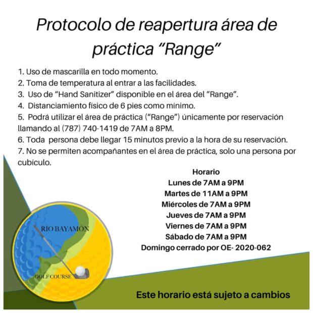 Protocolo Reapertura Range